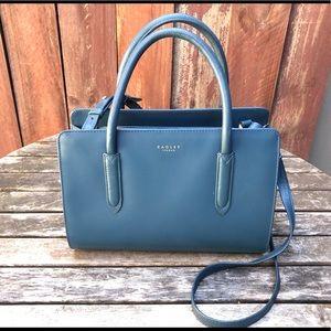 radley london liverpool street teal handbag purse